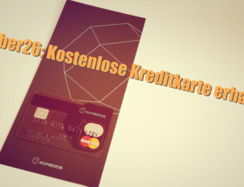 Number26: Kostenlose Kreditkarte erhalten