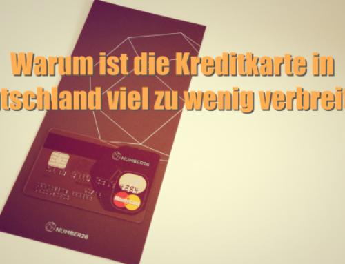 Warum ist die Kreditkarte in Deutschland viel zu wenig verbreitet?