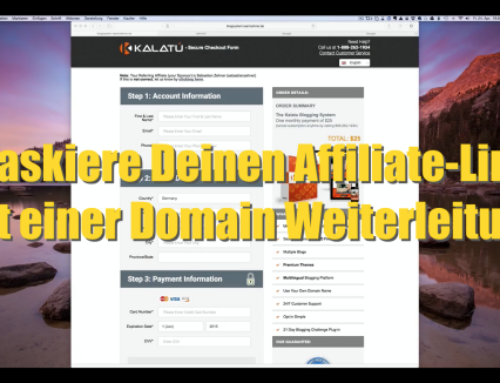 Maskiere Deinen Affiliate-Link mit einer Domain Weiterleitung