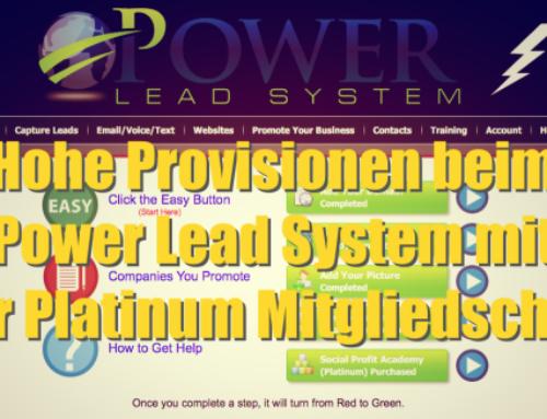 Hohe Provisionen beim Power Lead System mit der Platinum Mitgliedschaft