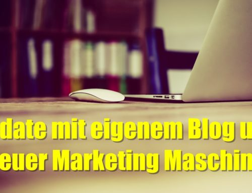 Update mit eigenem Blog und neuer Marketing Maschine